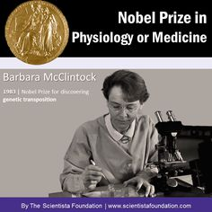 Nobel Laureate Barbara McClintock: Barbara McClintock (1902-1992) was an American geneticist who won the 1983 Nobel Prize in Physiology or Medicine for her discovery of genetic transposition, or the ability of genes to change position on the chromosome. More here: http://profiles.nlm.nih.gov/LL/ (image via www.scientistafoundation.com )