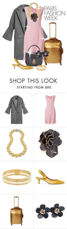 """Pack and Go: Paris Fashion Week"" by shamrockclover ❤ liked on Polyvore featuring Alberta Ferretti, Bling Jewelry, Oscar de la Renta, I.V.I., Tabitha Simmons, Lipault, Chanel, parisfashionweek and Packandgo"
