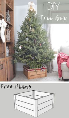 Build a DIY Christmas tree stand that easily disassembles flat storage. This post may contain affiliate links. If you make a purchase from one of the links, I m Christmas Tree Stand Diy, Christmas Garden, Country Christmas Decorations, Wood Christmas Tree, Rustic Christmas, Christmas Projects, Christmas Crafts, White Christmas, Diy Christmas Boxes
