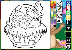 Easter Coloring | Digipuzzle.net Easter Colouring, Coloring, Easter Games, Play, Art, Kids Part, Art Background, Kunst, Performing Arts