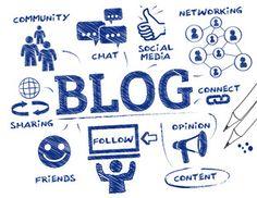 Vektor: Blogging concept doodle
