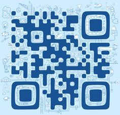 QR code on Behance