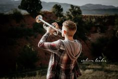 High school senior picture with trumpet Band Senior Pictures, Band Pictures, Senior Photos, Senior Portraits, Band Photos, Senior Boy Photography, Band Photography, Photography Ideas, Grad Pics