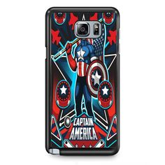 Marvel Pinball Captain America TATUM-6956 Samsung Phonecase Cover Samsung Galaxy Note 2 Note 3 Note 4 Note 5 Note Edge