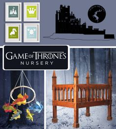 Game of Thrones Nursery. The baby is coming. Prepare for your little lords and ladies with a room fit for nobility. Honestly, this site has a bunch of amazing nursery ideas that it was really hard to choose just one!!! I love the Game of Thrones, Walking Dead, Alice in Wonderland, Mario!!!!