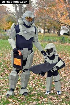 Father Son Halo Costumes! One day this will be Brandon and our future child
