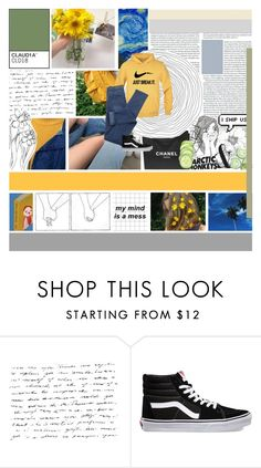 """""""tell me that you love me, even if it's fake"""" by untake-n ❤ liked on Polyvore featuring Nicole Miller, Vans, Chanel and urtarrilak10"""