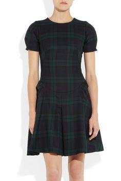 McQ Alexander McQueen|Tartan wool dress|NET-A-PORTER.COM