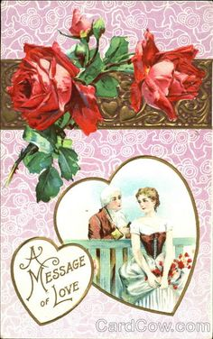 Couple Framed in a Heart Series 206 E A Message of Love