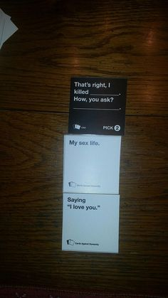 Funny games for adults laughing 48 Ideas Tumblr Funny, Funny Memes, Hilarious, Jokes, Funniest Cards Against Humanity, Bad Romance, Twisted Humor, Funny Cards, Adult Humor