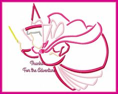 Flora the Good Fairy from Sleeping Beauty Sketch Digital Embroidery Machine Applique Design File 4x4 5x7 6x10 by Thanks4TheAdventure on Etsy