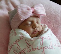 Hospital Newborn Beanie, Baby's First Bow! Newborn Hat, Baby Girl Hospital Hat, Newborn Girl Hat by TurtleBugSoup on Etsy https://www.etsy.com/listing/203974093/hospital-newborn-beanie-babys-first-bow