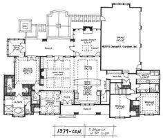 Conceptual Design #1379: Craftsman Ranch With Rear Garage - House...