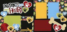 Cricut dog scrapbook layout
