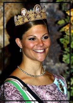 "Empress Josephine Cameo tiara, Sweden.  I call it the ""Wedding Tiara."""