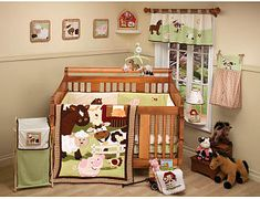 Farm Babies Crib Set - another for a little girl (are you sensing a theme?)