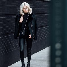 J Brand leather 4 date night