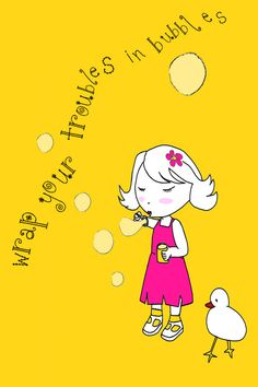 Little girl yellow Etsy Illustration for the by memorieswarehouse