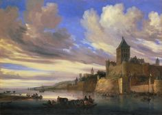 Salomon van Ruysdael River View of Nijmegen with the Valkhof painting for sale, this painting is available as handmade reproduction. Shop for Salomon van Ruysdael River View of Nijmegen with the Valkhof painting and frame at a discount of off. Castle Drawing, Legion Of Honour, Dutch Golden Age, Baroque Art, Unique Trees, Medieval Life, Fantasy Places, Oil Painting Reproductions, Museum Of Fine Arts