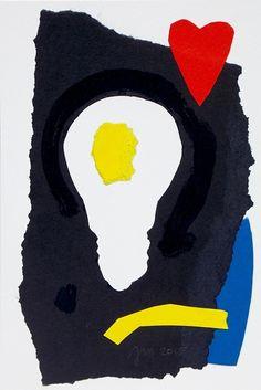 """andrea mattiello """"Illuminazione"""" collage su cartoncino cm 10x15; 2015 #andreamattiello #art #artistaemergente #emergingartist #collage #paper #cardboard"""