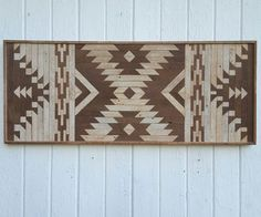 Reclaimed Wood Wall Art-Kilim Style Design-Twin Headboard-Wall decor-Diamond Decoration-Mosaic Art-Lath Art-Rustic