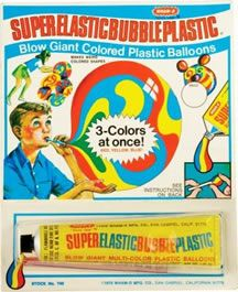 Plastic Bubbles.  Loved this stuff.