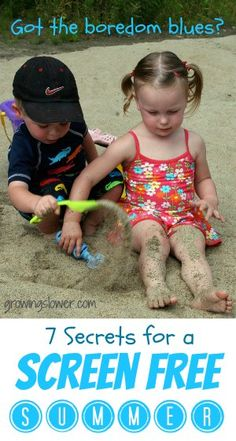 Check out these 7 secrets for a screen free summer. www.growingslower.com #screenfreeweek #tvfree