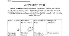 luokkakaveri-bingo.pdf Teaching Aids, Bingo, Pdf