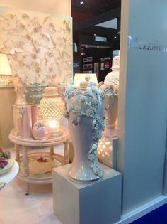 #cart #vase #flower #wall #panel Hotel Show Dubai 2014
