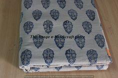 5 Yard Dress Material Flower Print Fabric Indian Hand Block Women Running Fabric