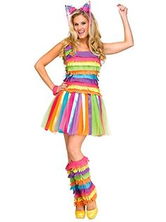 Find a Pinata Costume For Halloween. Here you'll find kids pinata costumes, adult pinata costumes, sexy pinata costumes, mexican group costumes, toddler pinata costumes and more! Pinata Halloween Costume, Scary Costumes, Running Costumes, Family Costumes, Couple Halloween Costumes, Halloween Cosplay, Diy Costumes, Adult Costumes, Costumes For Women