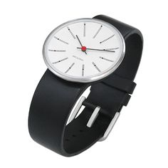 AJ Bankers wrist watch, black-white