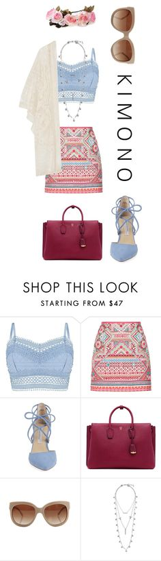 """""""boho style"""" by m-huber ❤ liked on Polyvore featuring Lipsy, Accessorize, Kristin Cavallari, MCM, STELLA McCARTNEY, Lucky Brand, Anna Sui and kimonos"""