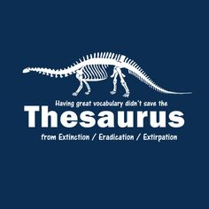 THESAURUS T-SHIRT(WHITE INK)
