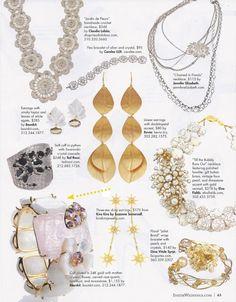 Inside Weddings Magazine. Bounkit White Agate Earrings and Moonstone and Rose Quartz Cuff.