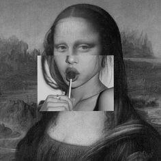 #art #monalisa #lollypop #present #workofart #candice