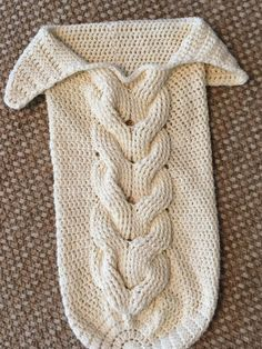 Skein and Hook: Free Crochet Pattern: Cabled Baby Cocoon