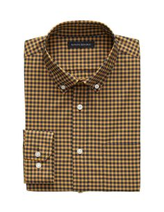 BANANA REPUBLIC -Fit Tech-Stretch Cotton Gingham Shirt – Think Positive – Buy Smart Gingham Shirt, Banana Republic, Tech, Shirt Dress, Fitness, Mens Tops, Cotton, Stuff To Buy, Shirts