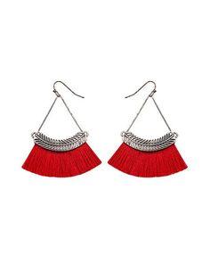 5b9e39a62 Vintage Fan-shaped Tassel Earrings Vintage Fans, Retro Art, Tassel  Earrings, Vintage