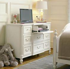 Rosalie Kids 9 Drawers Double Dresser - White  | Zin Home