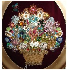 Costume Jewelry Crafts, Vintage Jewelry Crafts, Vintage Jewellery, Recycled Jewelry, Brooch Display, Jewellery Display, Architecture Design, Jeweled Christmas Trees, Wedding Collage