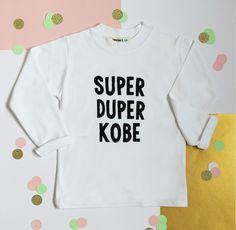 Our Super Duper Personalised t-shirt £12.50 www.lennieandco.bigcartel.com