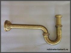 Sifon lavoar metalic finisaj bronz, Bathroom Hooks, Metal, Faucet