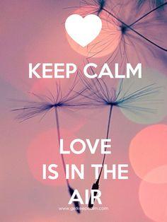 KEEP CALM LOVE IS IN THE AIR created by IEC