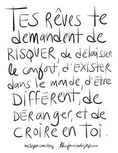 Items similar to Collection Osez rêver : 5 Cartes postales assorties, grand format on Etsy More Than Words, Some Words, Words Quotes, Me Quotes, Famous Quotes, Motivation, Positiv Quotes, Quote Citation, French Quotes