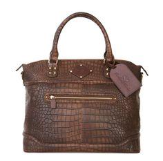 Avenue Bags | Trendy leren laptoptassen :: Laptoptassen dames :: Laptoptas Dames Roxy Antique Brown Croc 15.5 inch