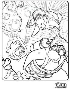 best club penguin epf coloring pages httpcoloringpagesgreatsciencebest - Club Penguin Coloring Pages Ninja