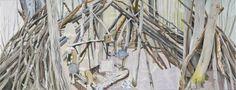 """Alois Mosbacher: """"Möblierung der Wildnis"""", 2013/2014. Mehr zur Ausstellung: http://www.nachrichten.at/nachrichten/kultur/Ein-Cyber-Impressionist-moebliert-die-Wildnis;art16,1418698"""