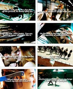 Divergent Trailer and Quotes featuring Theo James as Four and Shailene Woodley as Tris Prior. These quotes and events are huge for this story and I can't wait to see these sequences put in motion. Yay to this movie. So so excited! (Via PagetoPremiere) #truedivergentfan