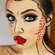 Popart ou cartoon  @crazy.makeups